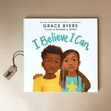 Load image into Gallery viewer, i-believe-i-can-hardcover-picture-book-with-an-illustration-of-an-aftican-american-girl-and-boy-on-a-white-background