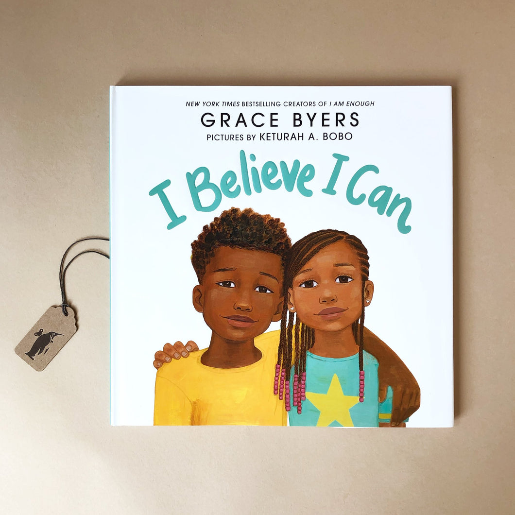 i-believe-i-can-hardcover-picture-book-with-an-illustration-of-an-aftican-american-girl-and-boy-on-a-white-background