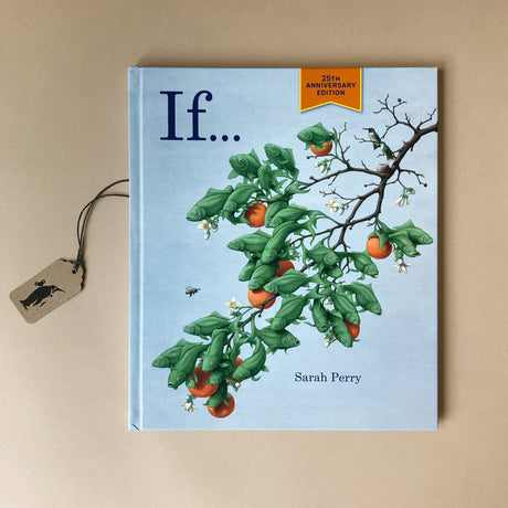 if-hard-cover-book-illustrated-with-green-fish-made-to-look-like-keaves-of-a-fruit-tree