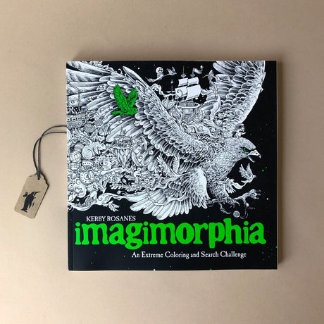 imagimorphia-coloring-book-cover-showing-an-eagle-with-all-sorts-of-objects-and-animals-trailing-behind-the-wings