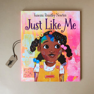 just-like-me-hardcover-picture-book-cover-illustrated-with-african-american-girl-on-a-pink-background