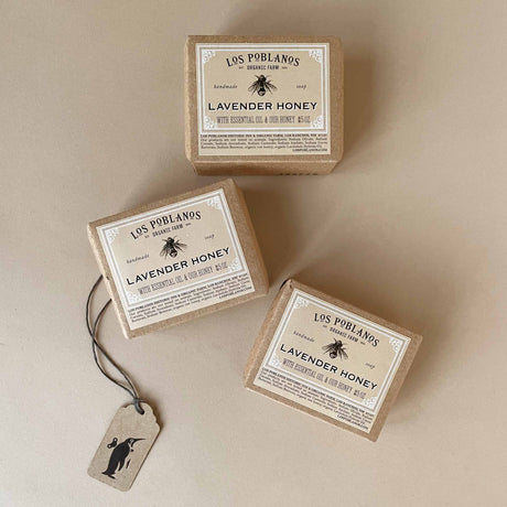 three-bars-of-lavender-honey-soap-in-packaging