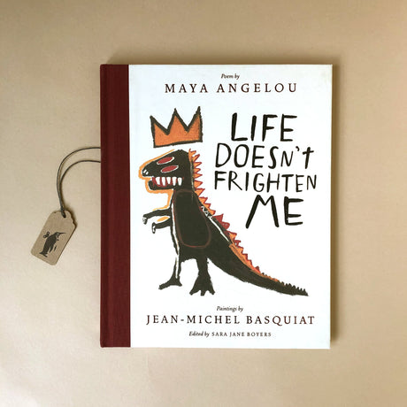 life-doesn't-frigten-me-hardcover-book-with-dinosaur-like-monster-in-a-crown-illustration