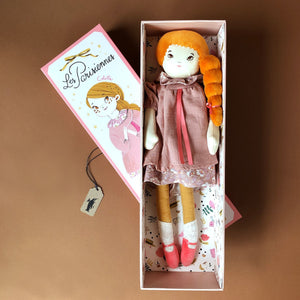 Mademoiselle Colette Doll | Dusty Pink Dress - Dolls & Doll Accessories - pucciManuli
