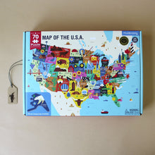 Load image into Gallery viewer, Map of The USA 70pc Puzzle - Puzzles - pucciManuli