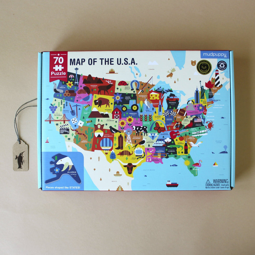 Map of The USA 70pc Puzzle - Puzzles - pucciManuli