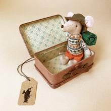 Load image into Gallery viewer, Matchbox Mouse Big Brother | Hiker in Brown Suitcase - General - pucciManuli