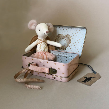 Matchbox Mouse Big Sister | Guardian Angel in Pink Suitcase - Dolls & Doll Accessories - pucciManuli