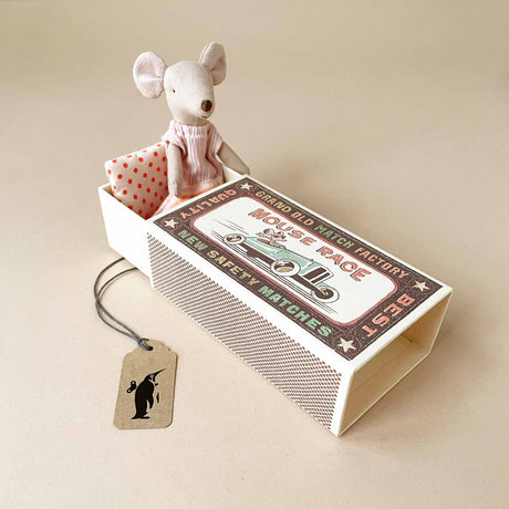 Matchbox Mouse Big Sister | Pink Stripe PJs - Dolls & Doll Accessories - pucciManuli