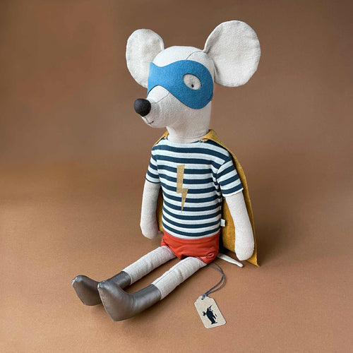 Maxi Mouse | Super Hero with Blue Stripe Shirt - Dolls & Doll Accessories - pucciManuli