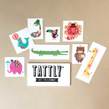 Load image into Gallery viewer, Menagerie Temporary Tattoo Set - Accessories - pucciManuli