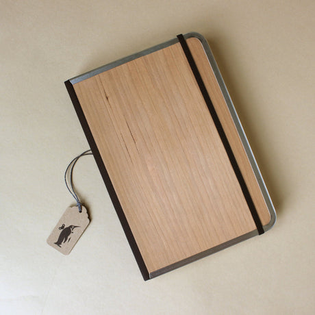Metal Edge Notebook | Cherry Wood - Stationery - pucciManuli
