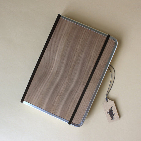 Metal Edge Notebook | Walnut Wood - Stationery - pucciManuli