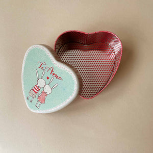 Metal Heart Tin | Rabbits - Accessories - pucciManuli