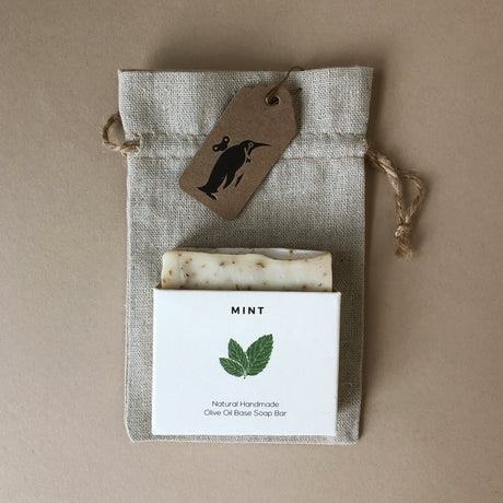 mint-artisan-soap-bar-with-drawstring-pouch
