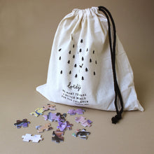 Load image into Gallery viewer, my-unicorn-glitter-puzzle-pieces-in-fabric-bag