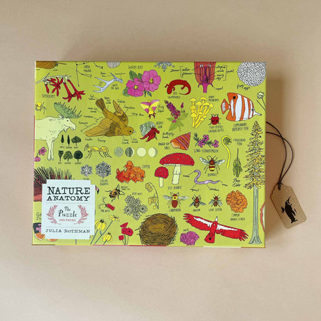 nature-anatomy-500-piece-puzzle-box-showing-various-plants-and-animals-with-scientific-text-next-to-it