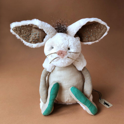Neige the Snow Rabbit | Medium - Stuffed Animals - pucciManuli