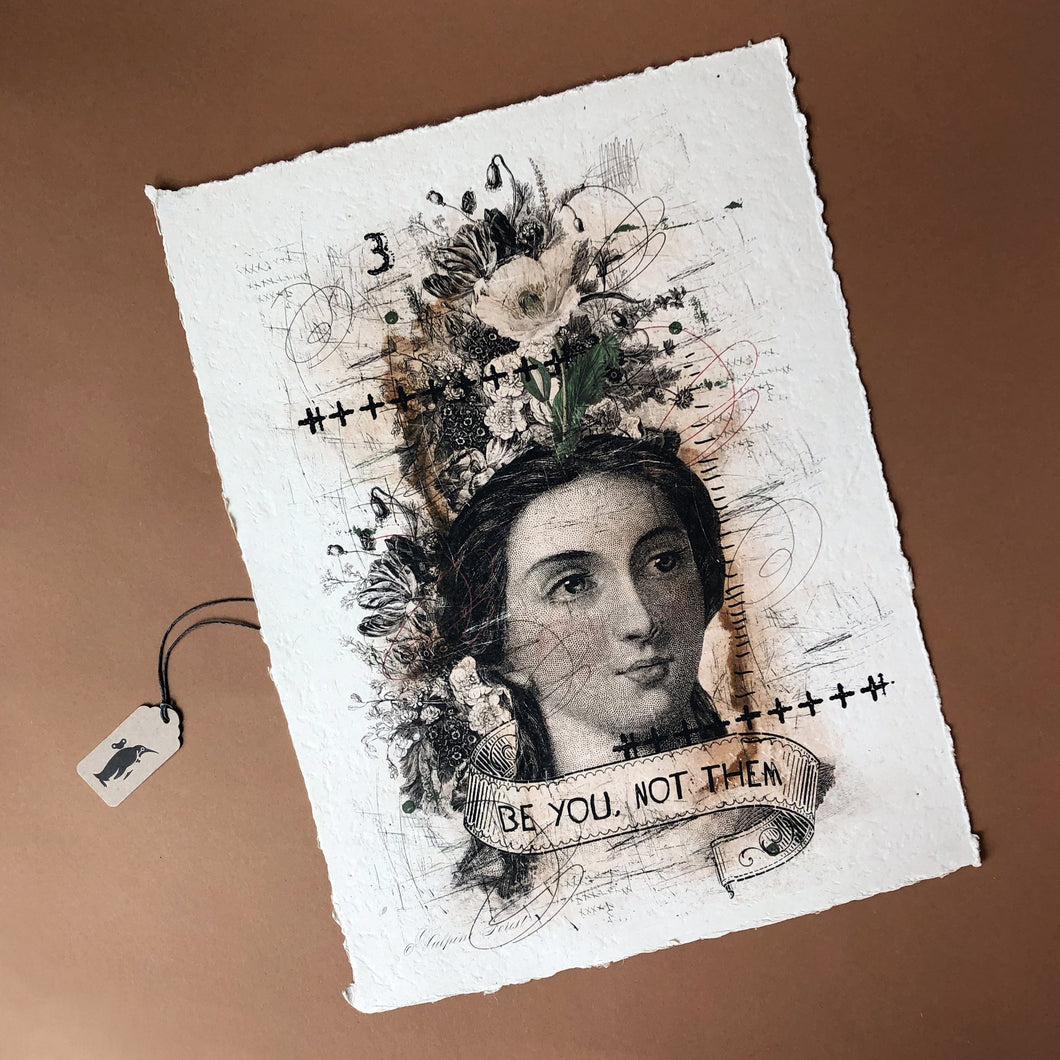Paper Print | Be You, Not Them - Home Decor - pucciManuli