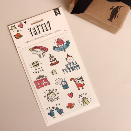 Party Pals Temporary Tattoo Sheet - Curiosities - pucciManuli