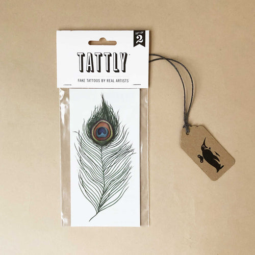 Peacock Feather Temporary Tattoo - Accessories - pucciManuli