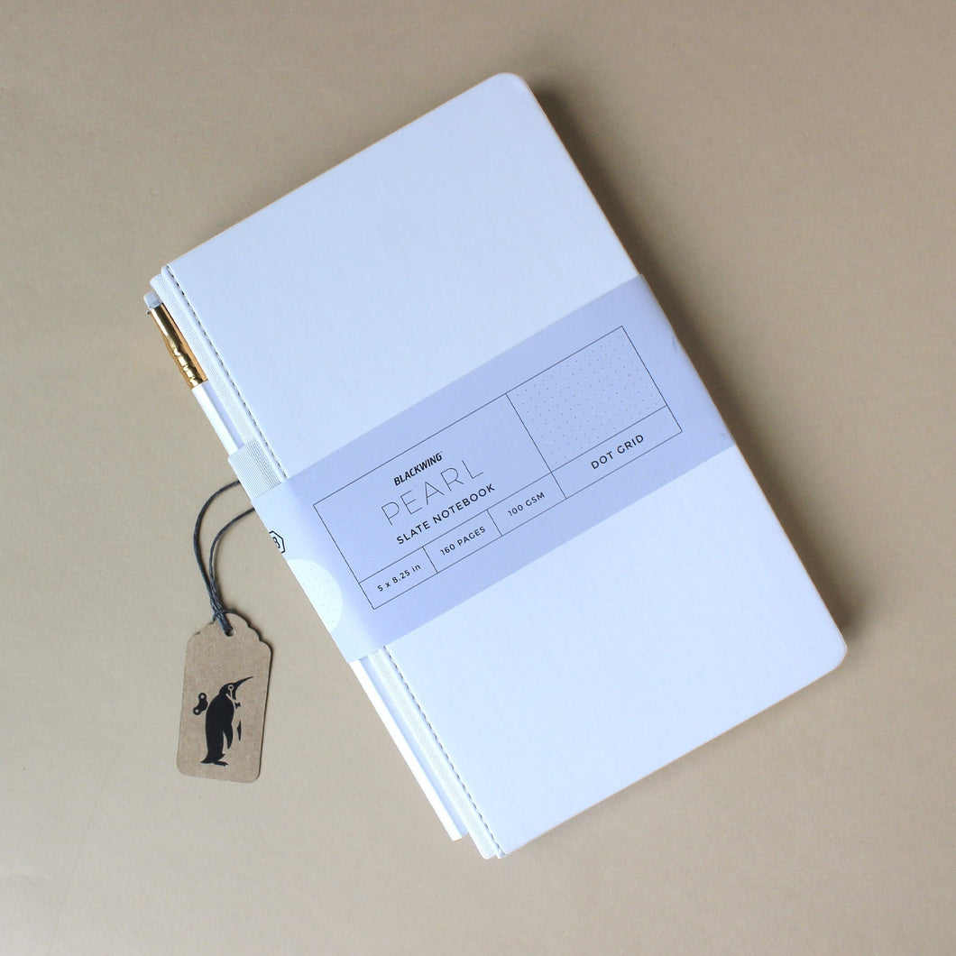 Pearl Slate Dot Grid Notebook - Stationery - pucciManuli