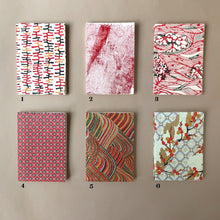 Load image into Gallery viewer, Petite Hand Bound Notebook | Reds - Stationery - pucciManuli
