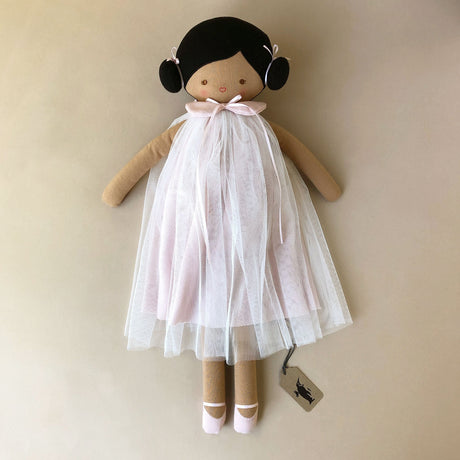lulu-doll-in-pink-tulle-dress-with-brown-skin-and-black-hair