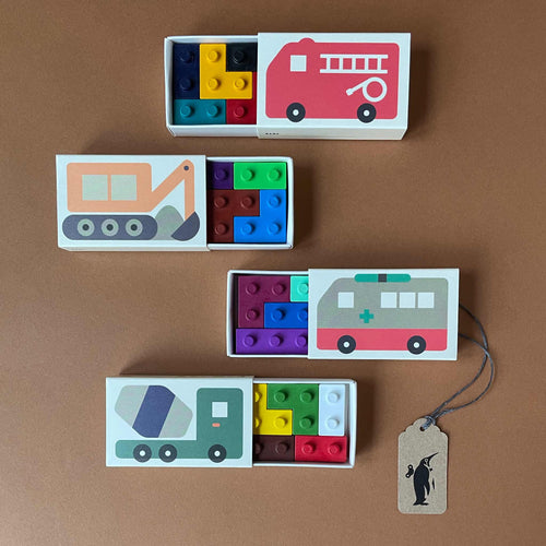 Pocket Crayons | Vehicles Set - Arts & Crafts - pucciManuli