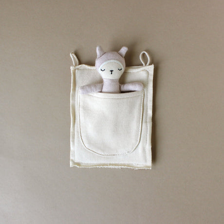 Organic Cotton Pocket Friend Bunny | Mauve - Stuffed Animals - pucciManuli