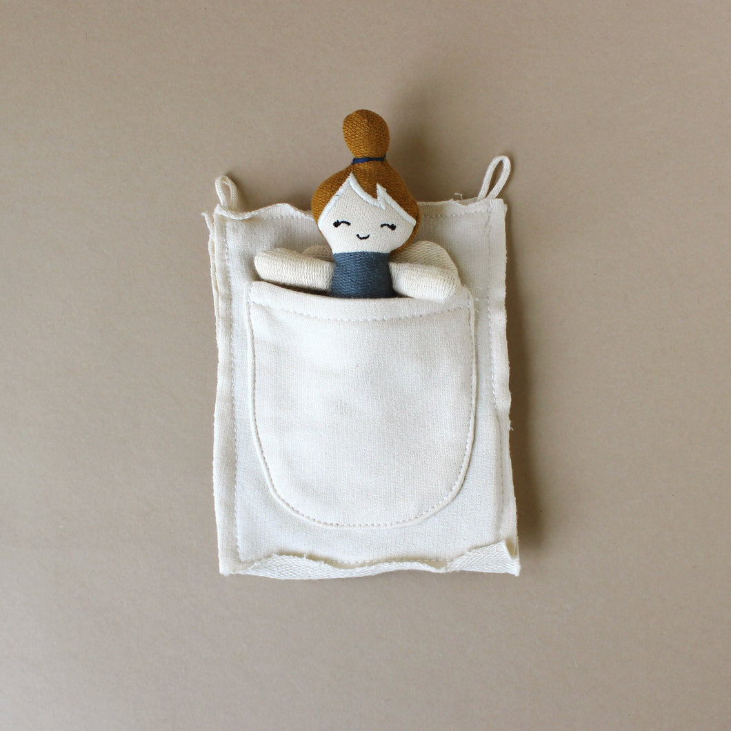 Organic Cotton Pocket Friend Fairy | Blue Spruce - Dolls & Doll Accessories - pucciManuli