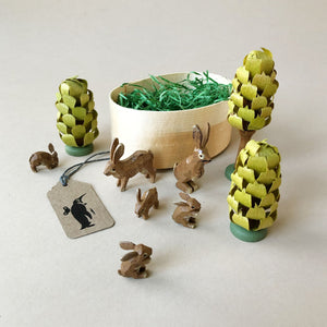 Rabbits & Trees Ring-Turned Set | Large - Figurines - pucciManuli
