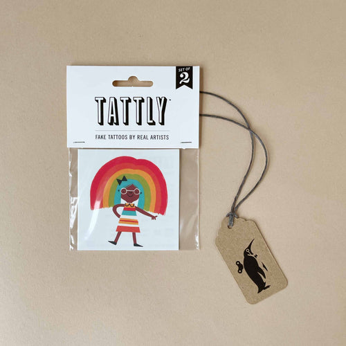 Rainbow Girl Temporary Tattoo - Accessories - pucciManuli