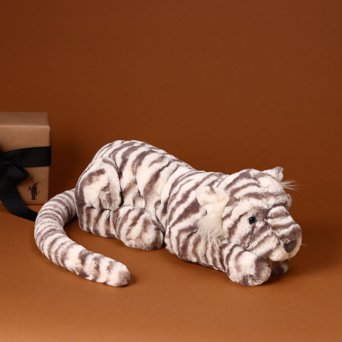 Sacha Snow Tiger | Large - Stuffed Animals - pucciManuli