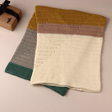 Load image into Gallery viewer, Hand-Knit Diamond Blanket | Sahara - Blankets/Throws - pucciManuli