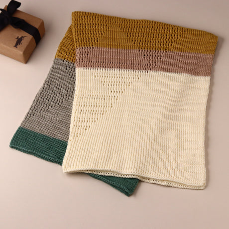 Hand-Knit Diamond Blanket | Sahara - Blankets/Throws - pucciManuli