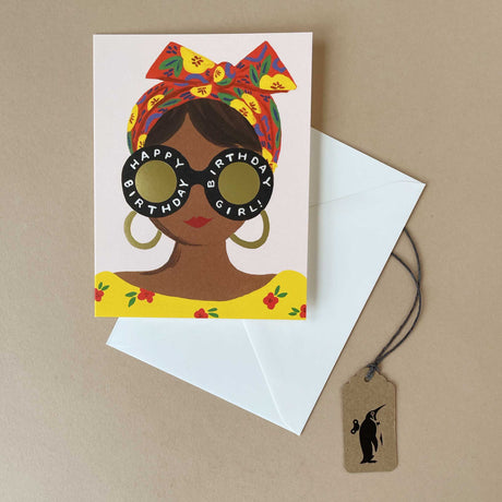 Scarf Birthday Girl Greeting Card - Greeting Cards - pucciManuli