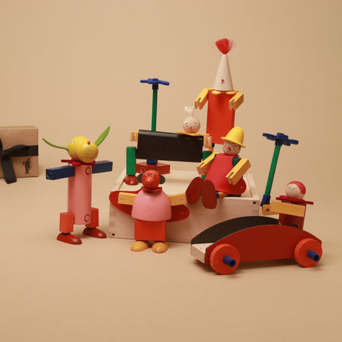 Schrills Steck Figure Set - Building/Construction - pucciManuli