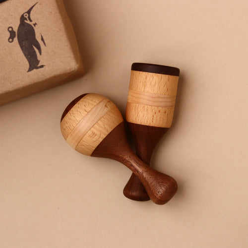 Set of Two Wooden Rattles - Baby (Rattles) - pucciManuli