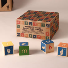 Load image into Gallery viewer, Sign Language Wooden Block Set - Building/Construction - pucciManuli