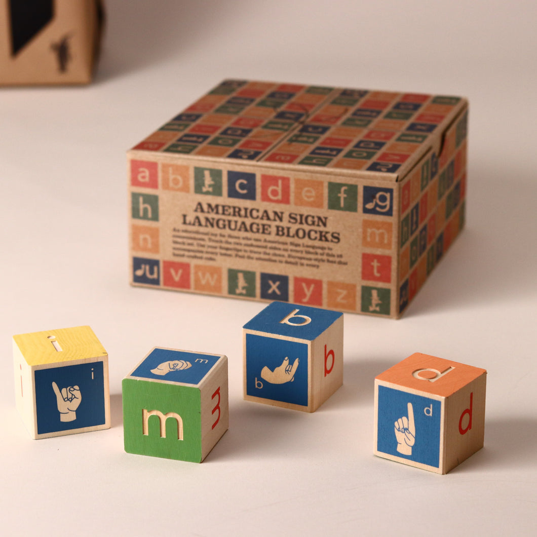 Sign Language Wooden Block Set - Building/Construction - pucciManuli