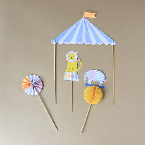 Silly Circus Cake Toppers - Party - pucciManuli