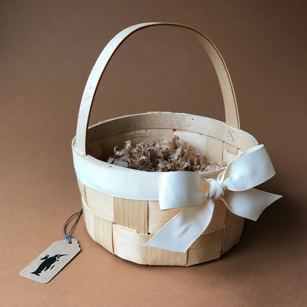 Splint Wood Basket - Round - Easter - pucciManuli