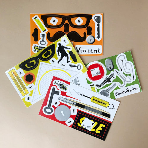 sticker-experiment-box-stickers-with-various-glasses-keys-and-tools