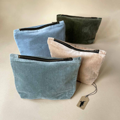 Velvet Zippered Pouch - Totes/Bags - pucciManuli