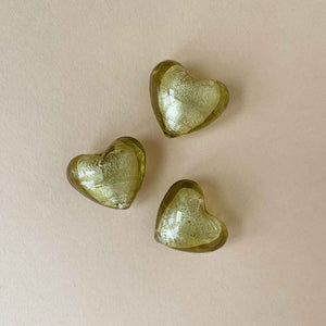 venetian-glass-heart-three-olive-gold-spread-out