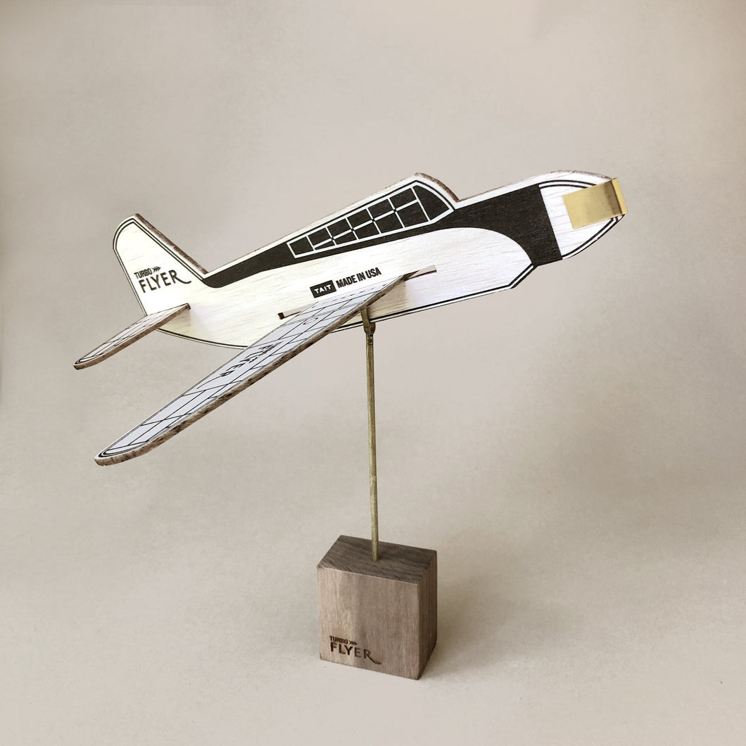Walnut Wood Airplane Stand - Home Decor - pucciManuli