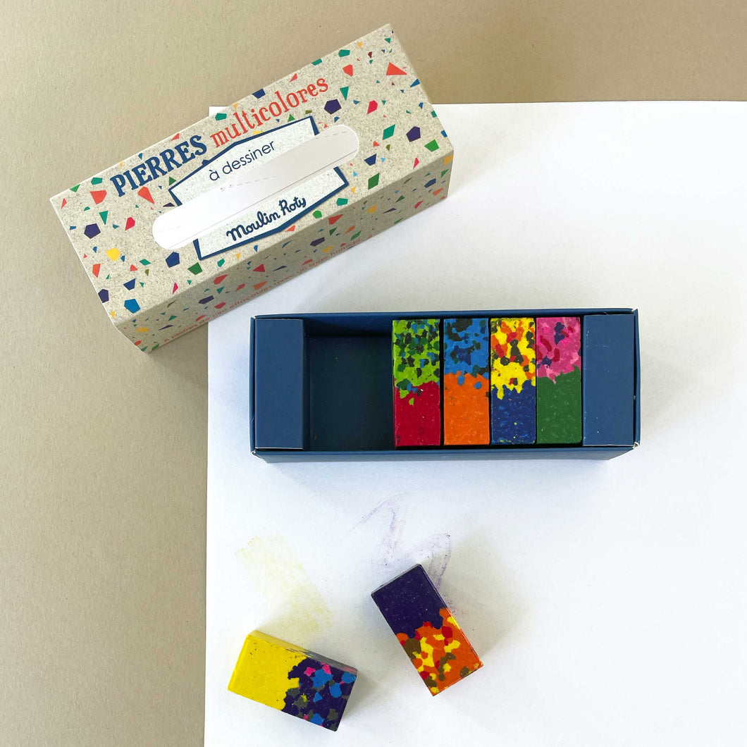 Wax Block Crayon Set (12) | Multi-Colored - Arts & Crafts - pucciManuli
