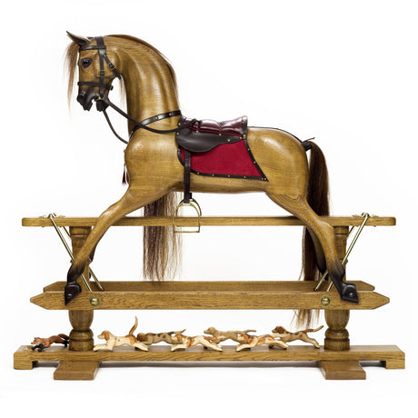 Waxed Oak Rocking Horse - Home Decor - pucciManuli