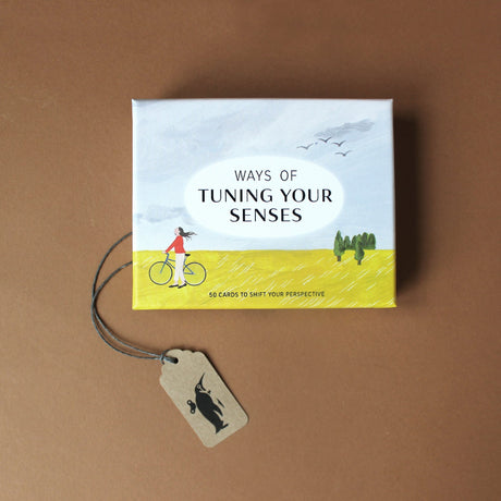 ways-of-tuning-your-senses-box-set-illustrated-with-woman-and-bike-in-a-field